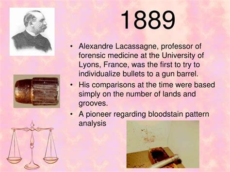 bloodstain pattern history ppt a brief history of forensic science powerpoint