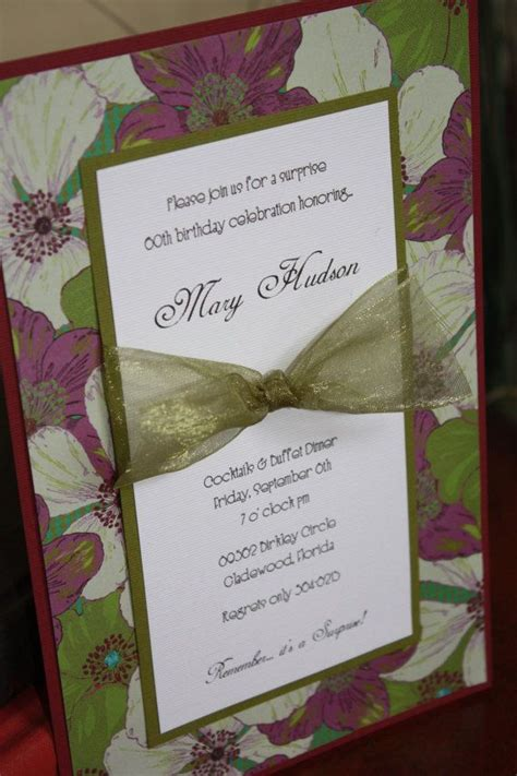 Handmade Birthday Invitation Ideas - handmade floral birthday invitations layout