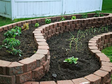 brick raised flower bed woodworking projects plans