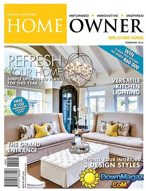 home decor magazines south africa south african home owner february 2016 187 download pdf