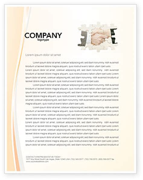 business partnership letterhead partnership business card template layout