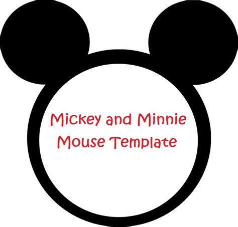 mickey mouse template minnie mouse cut outs printable minnie mouse invitation