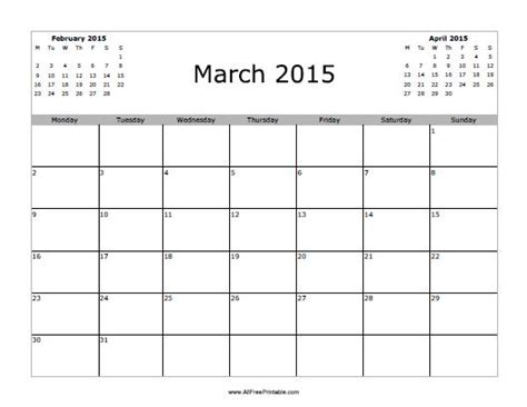 search results for free printable calendars march 2015