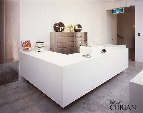 Corian Reception Desk Reception Desks Offices Dfmk Solid Surface Milton Keynes