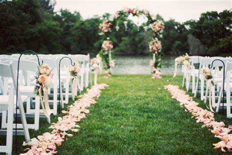 Wedding Aisle Side by Color Series Antique Petals For Vintage Weddings And
