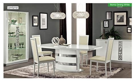Dining Room Outlet by Esf Furniture Roma 7pcs Dining Room Set In White By Dining