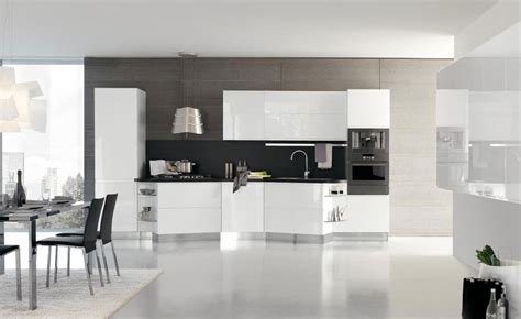 White Contemporary Kitchen Cabinets by New Modern Kitchen Design With White Cabinets Bring From