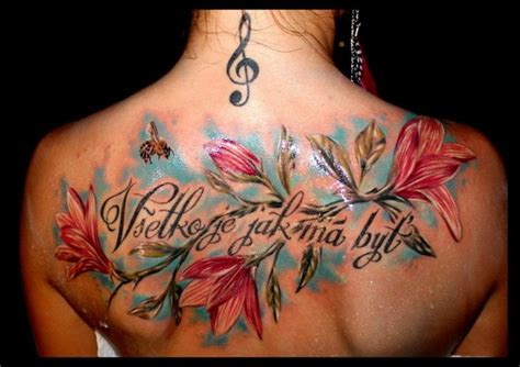 tattoo lettering with flowers flower lettering back tattoo by delirium tattoo