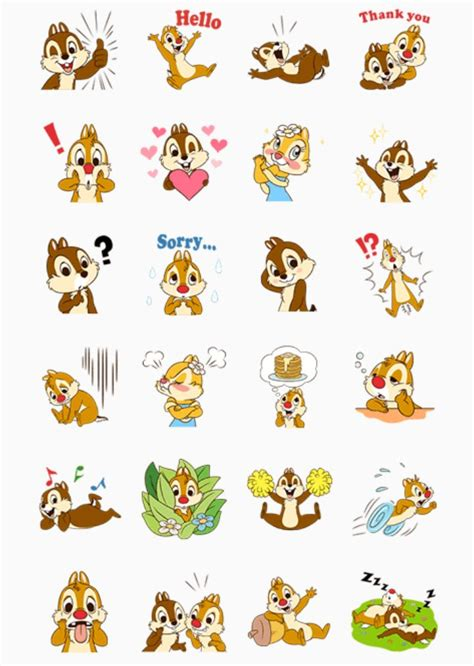 printable stickers disney cip e ciop chip and dale free printable stickers