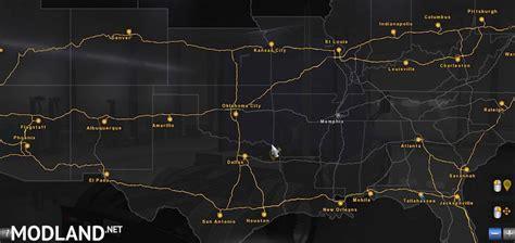 coast  coast map   mod  american truck simulator ats