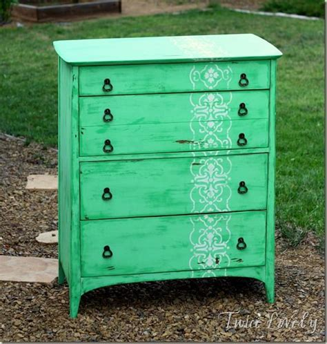 Distressed Green Dresser by 1000 Ideas About Stencil Dresser On Furniture