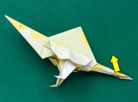 Origami Spinosaurus - joost langeveld origami page