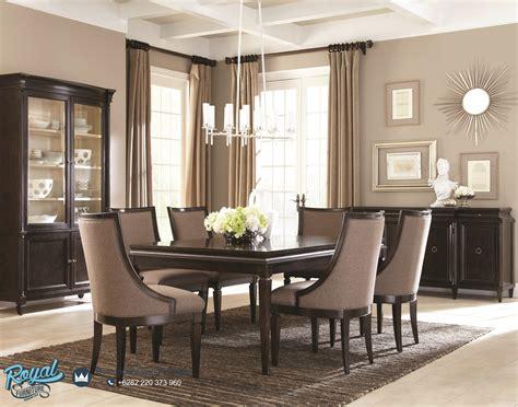 Meja Dispenser Nakas Side Table Meja Minimalis high end dining room sets kayu solid prasmanan mirrored dining table brown varnish