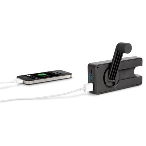 emergency cell phone charger the crank emergency cell phone charger hammacher