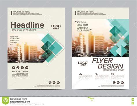 leaflet cover layout modern brochure cover design vector illustration