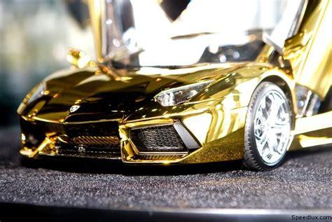 Gold Plated Lamborghini Aventador Price Gold Plated Lamborghini Aventador 1 8 Scale Model Costs 7