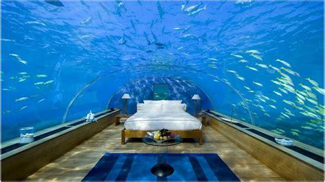 underwater bedroom in maldives high gloss red kitchen underwater hotel room underwater