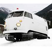 Crazy 1966 VW Bus With Snowmobile Tracks And Sound System