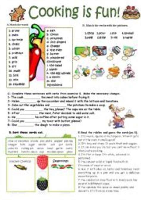 Kitchen Utensils Worksheet Pdf by Worksheets Cooking Verbs Kitchen Utensils And