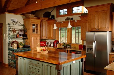 country kitchen with island 5 ideal surfaces for country style kitchen homedizz