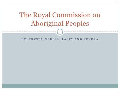 the royal commission on aboriginal peoples w bibliography