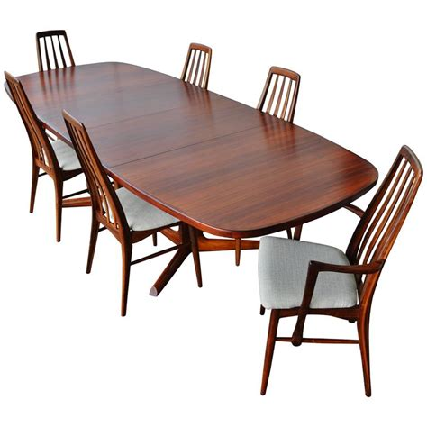 Rosewood Dining Table And Chairs Impeccable Rosewood Moller Dining Table And Six Koefoeds Chairs At 1stdibs