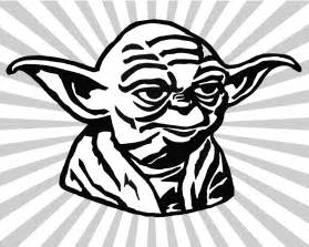 yoda colouring pages