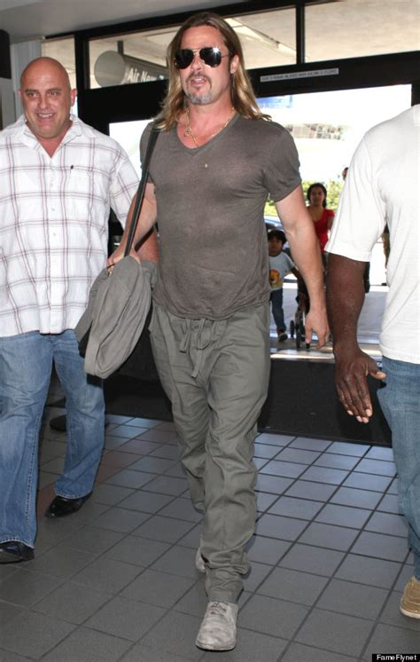 Brad Get Their St On In Oz by Brad Pitt Really Really His Monochromatic