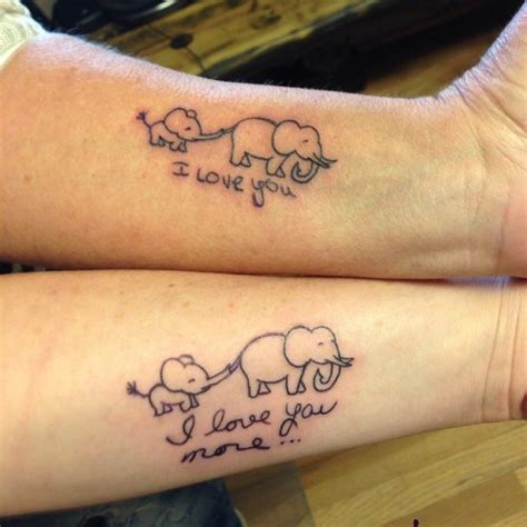 elephant tattoo mother daughter 55 awesome mother daughter tattoo design ideas ecstasycoffee