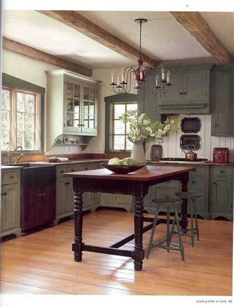 Country Kitchen Cabinet Colors The Farmhouse Style Cabinets Not The Color But Definitely All The Details Yet The