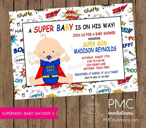 Superman Baby Shower Invitations by Superman Baby Shower Invitations Theruntime