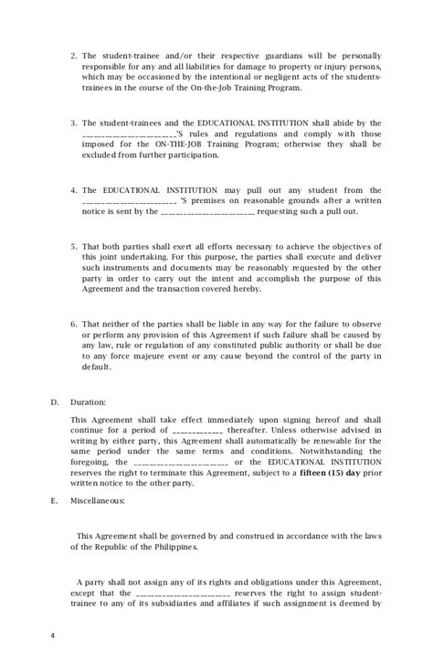Letter Of Agreement Tagalog application letter for tagalog best free