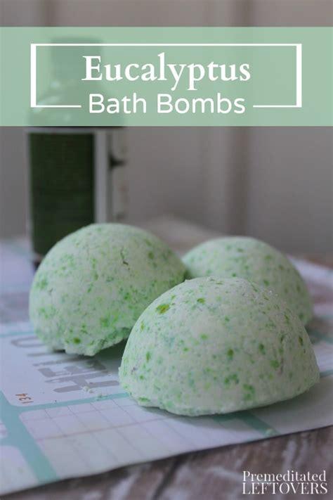 eucalyptus bath bombs tutorial