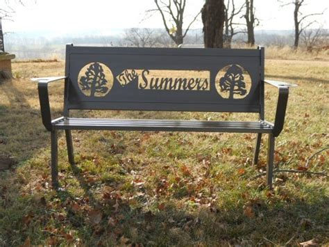 memory benches personalized custom outdoor benches by hooper hill custom metal designs