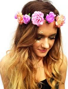 flower headband pastel flower crown mermaid floral headpiece boho flower headband s summer hair