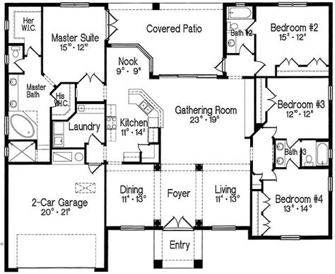 split bedroom plan plan 4293mj split bedroom one story living master suite flooring and