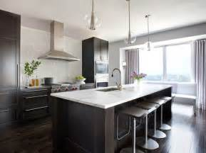 Modern Kitchen Dark Cabinets by This Or That White Vs Wood In Two Stylish Kitchens