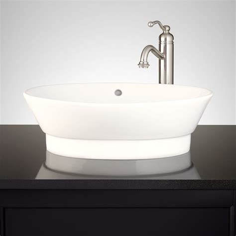 Riona Oval Porcelain Vessel Sink   Vessel Sinks   Bathroom