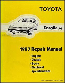 service manual how to fix 2000 toyota corolla valve repair leaking valve cover gaskets on 1987 toyota corolla rwd repair shop manual original