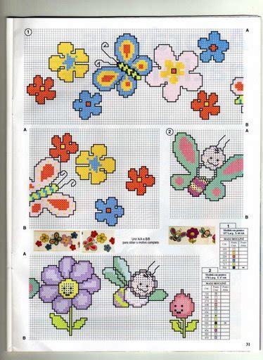 schemi punto croce farfalle e fiori schema punto croce farfalle fiori