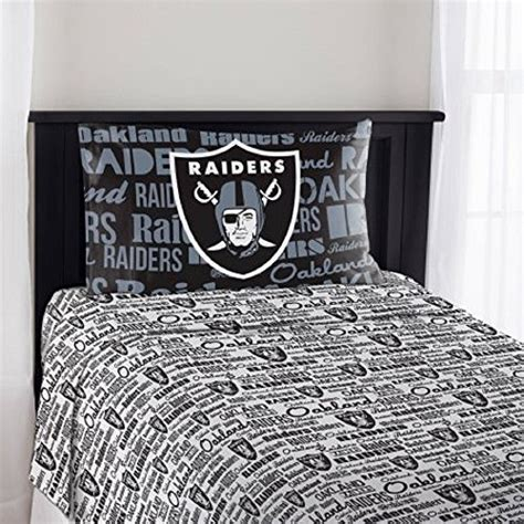 Raiders Bed Set Raiders Sheet Sets Oakland Raiders Sheet Set Raiders