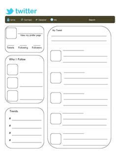 best photos of printable twitter template middle school