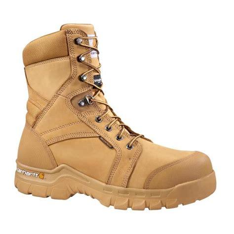 carhartt mens work boots carhartt s 8 inch wheat rugged flex waterproof
