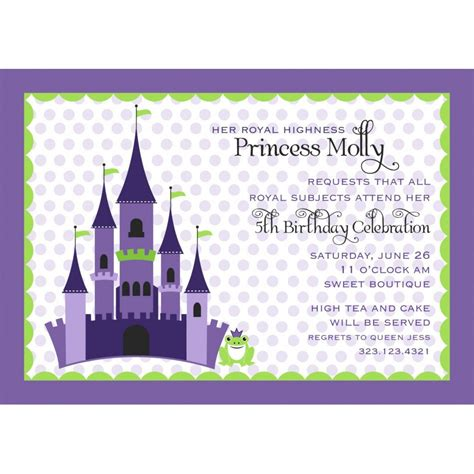 princess and the frog invitations printable free printable princess and the frog invitations