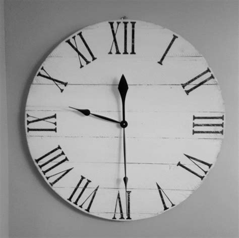 white wooden distressed wall clock large white distressed wall clocks atcsagacity
