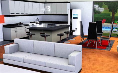 sims 3 cuisine sims 3 maison moderne carr 233 desing d 233 coration interieur