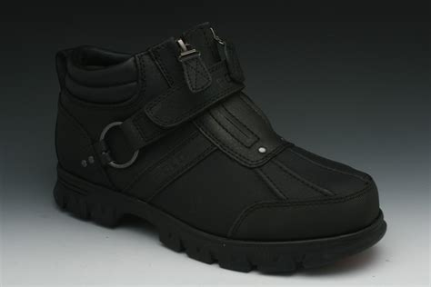 black polo boots polo ralph conquest ii s boots in black