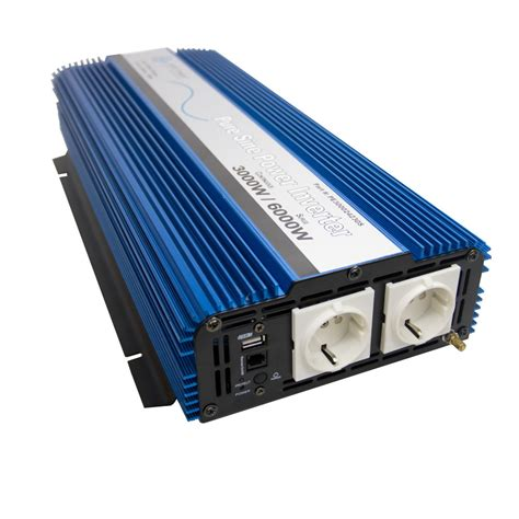 Inverter 1300w 12vdc To 220 230 Vac Step Up Plus Usb 1 3000 watt sine inverter european 24 vdc to 220 230 vac 50 hz
