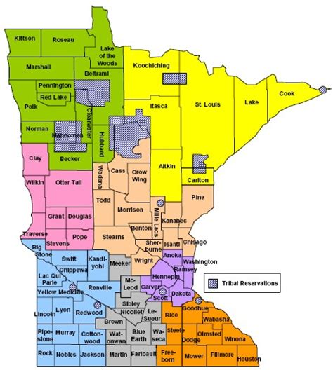 mn county map health and health care regions and teams epr