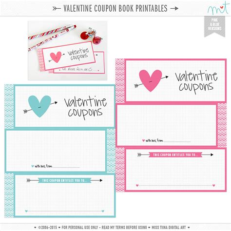 printable valentine s day coupon book template free valentine s printables